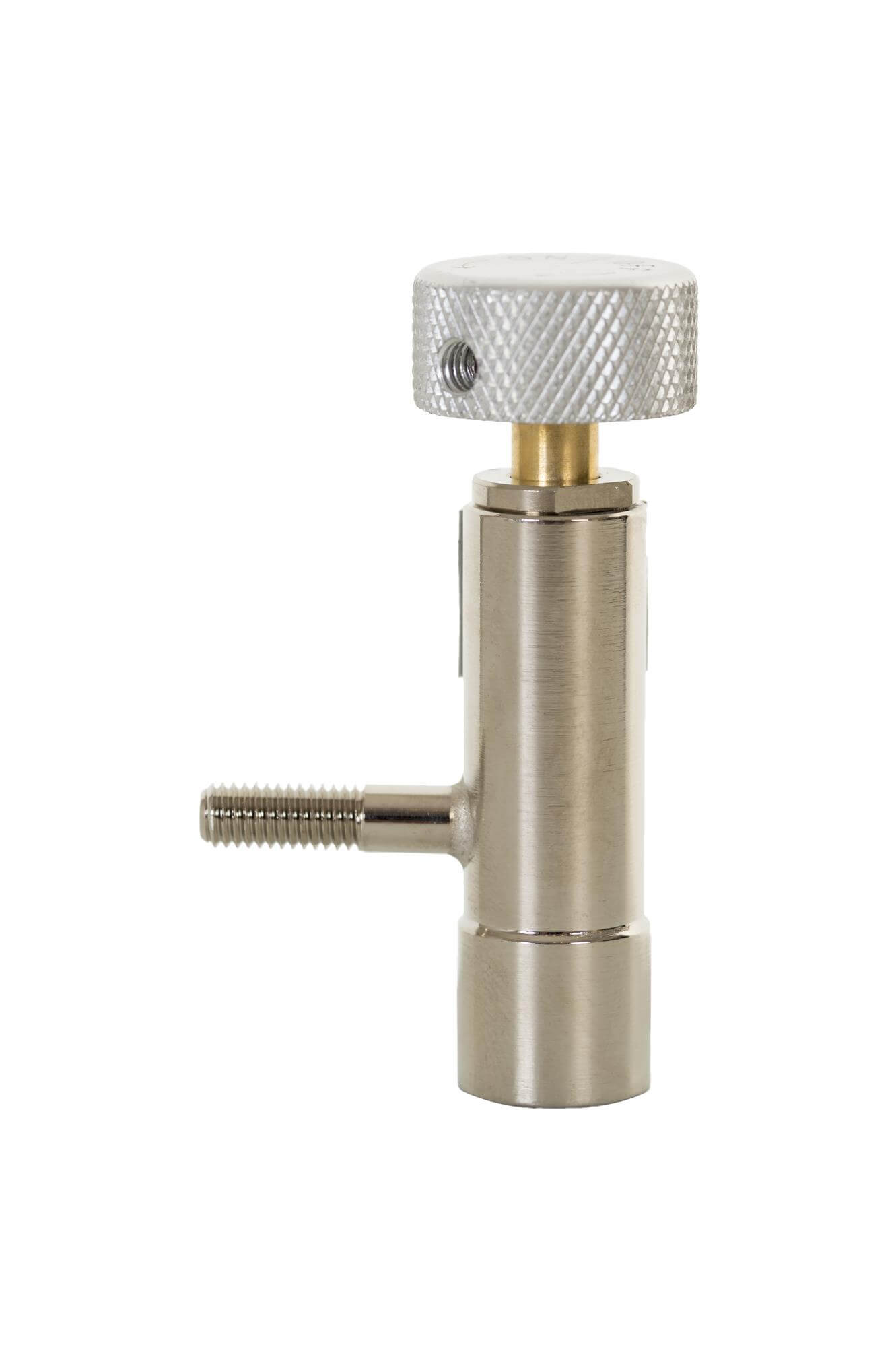 Brass control valve with Barbed outlet